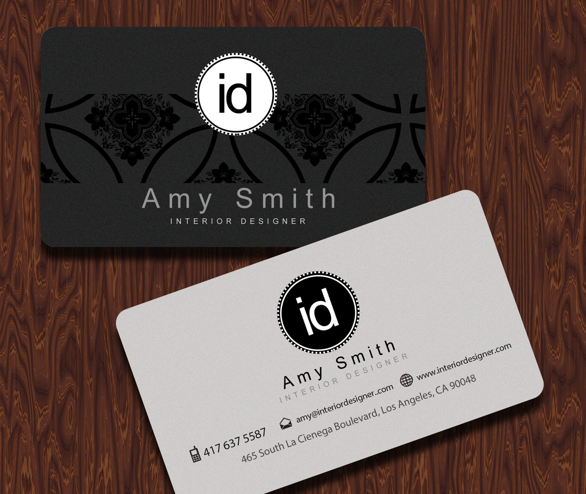 Interior Designer Business Cards - With a clean and simple layout ...
