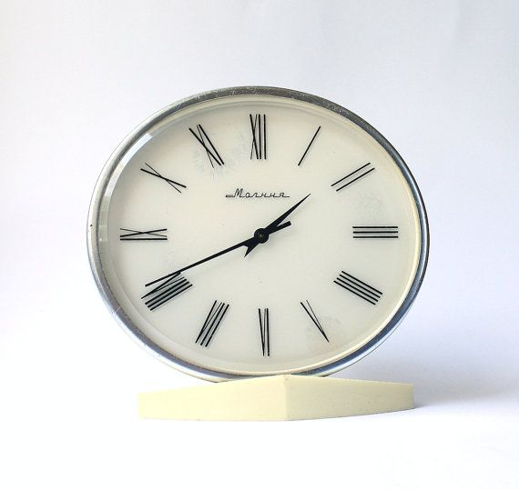 Rare Vintage table clock from Russia Soviet Union era clock