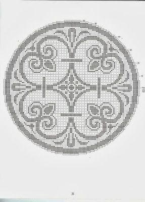 World crochet: Napkin 176