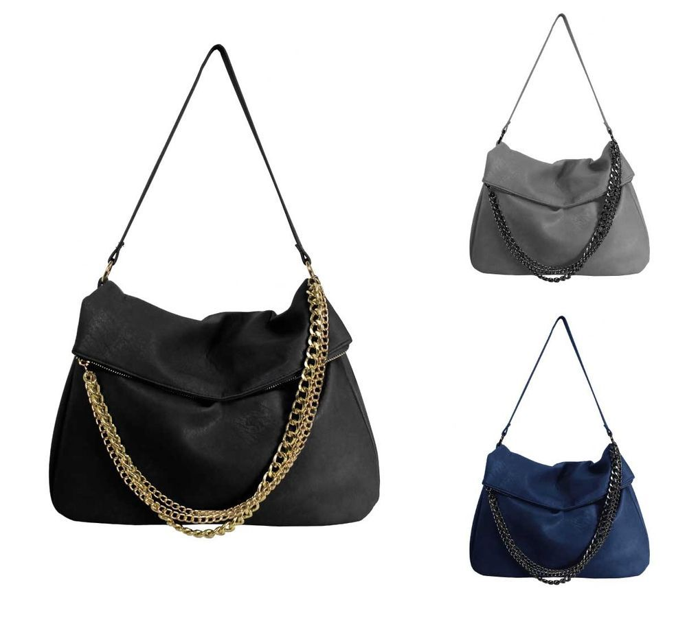 Rampage Bags Las Satchel Hobo Shoulder Bag With Signature Logo Rp2247 Women S Black Gray Blue