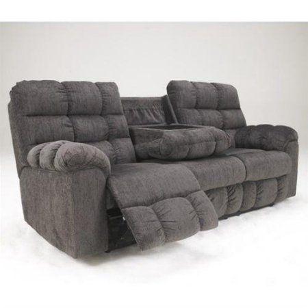 Leather Sectional Sofa Ashley Furniture Acieona Microfiber Reclining Sofa in Slate
