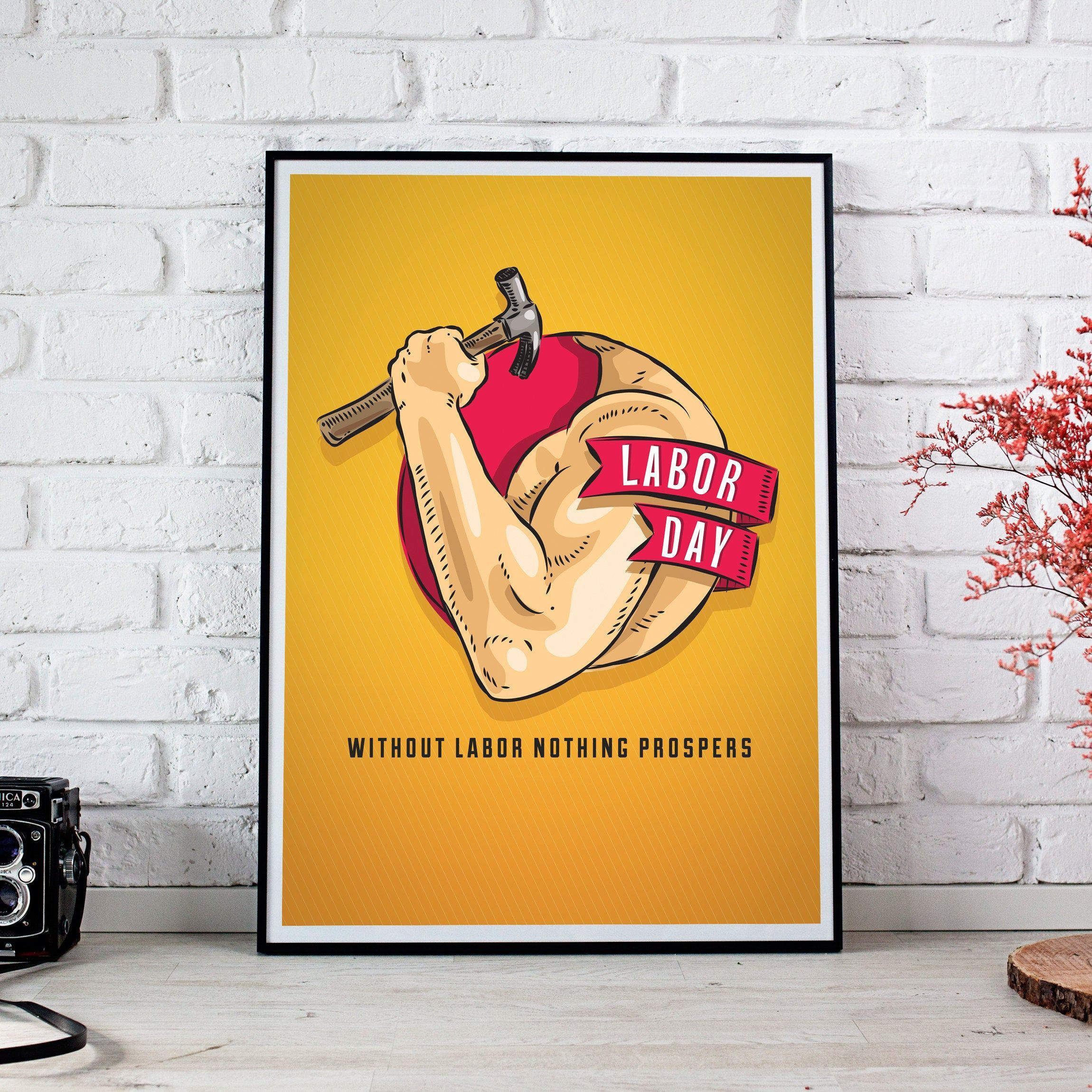 Labor Day Quote Poster Printable, Labor Day Worker Print, Labor Day Room Decoration, 1st May Print - Wall Art Decor, Instant Download by DigitPrints on Etsy #labordayquotes Labor Day Quote Poster Printable, Labor Day Worker Print, Labor Day Room Decoration, 1st May Print - Wall Art Decor, Instant Download by DigitPrints on Etsy #labordayquotes