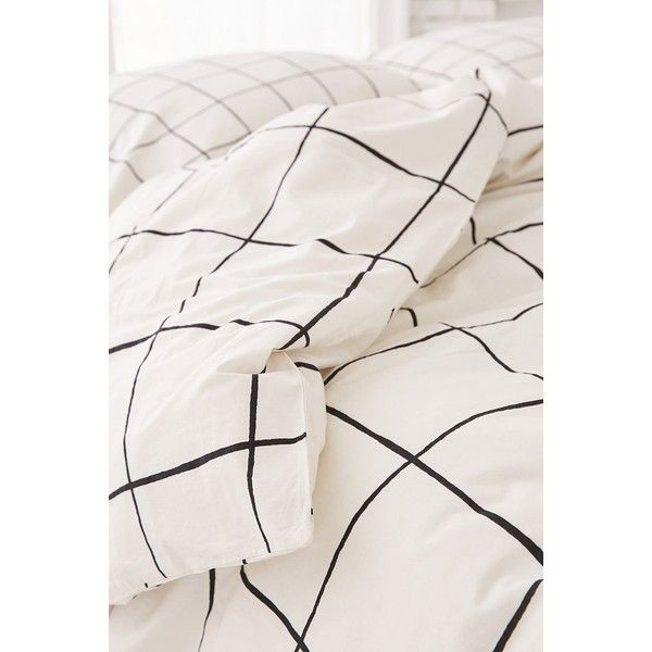 Wonky Grid Duvet Cover 99 Liked On Polyvore Featuring Home
