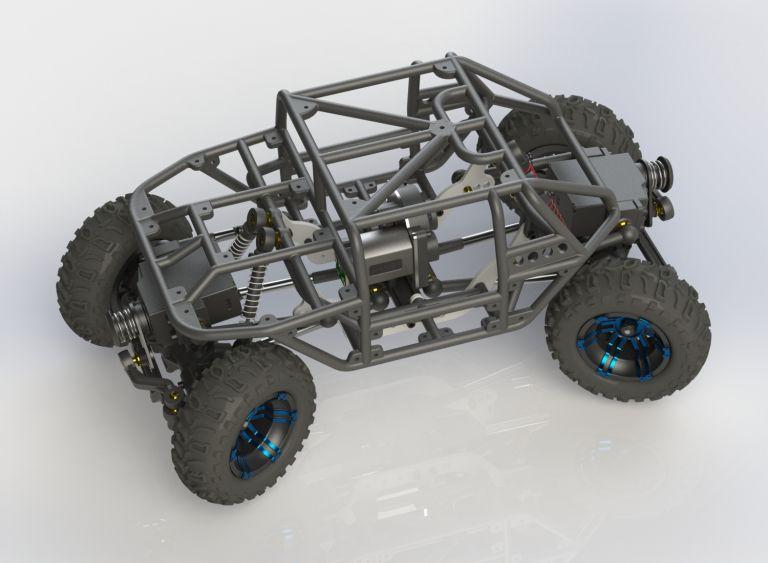 Losi Micro Rock Crawler 3D printed KIT (RV4Q4GH2R) by