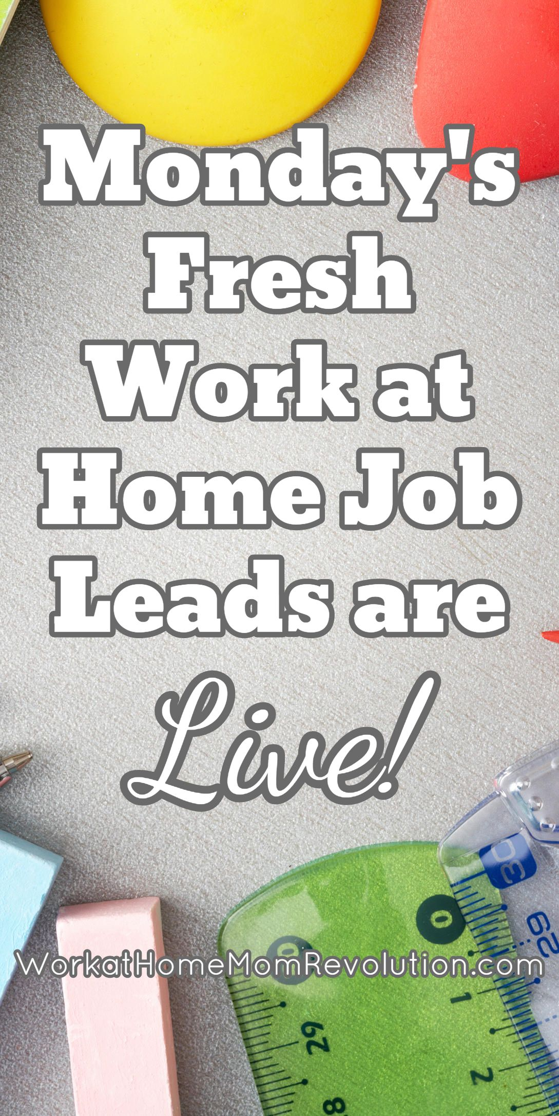 Fresh Work at Home Job Leads | Business, Extra money and Extra cash