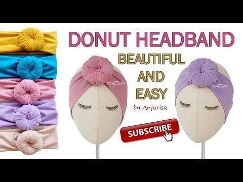 Bun Headband for Babies - Donut Turban - Donut Headband DIY - (DIY, how to make,... -