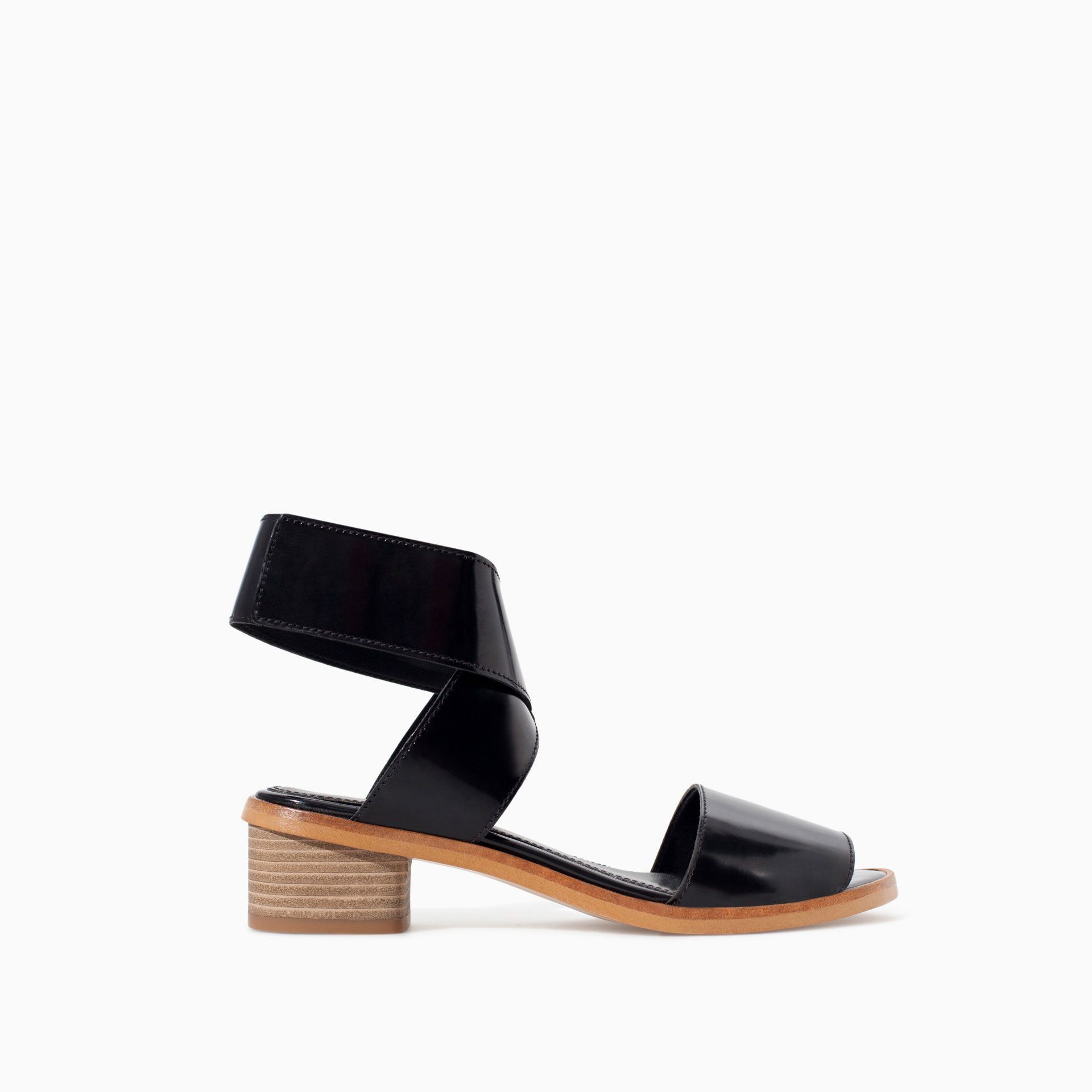 ANKLE STRAP SANDAL WITH VELCRO - TRF - NEW THIS WEEK | ZARA Ukraine