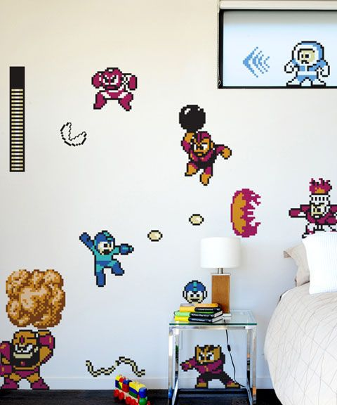 Mega man wall decals