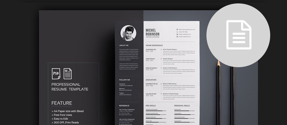 Cv  Resume  Cover Letter Templates For Word  Pdf  Https