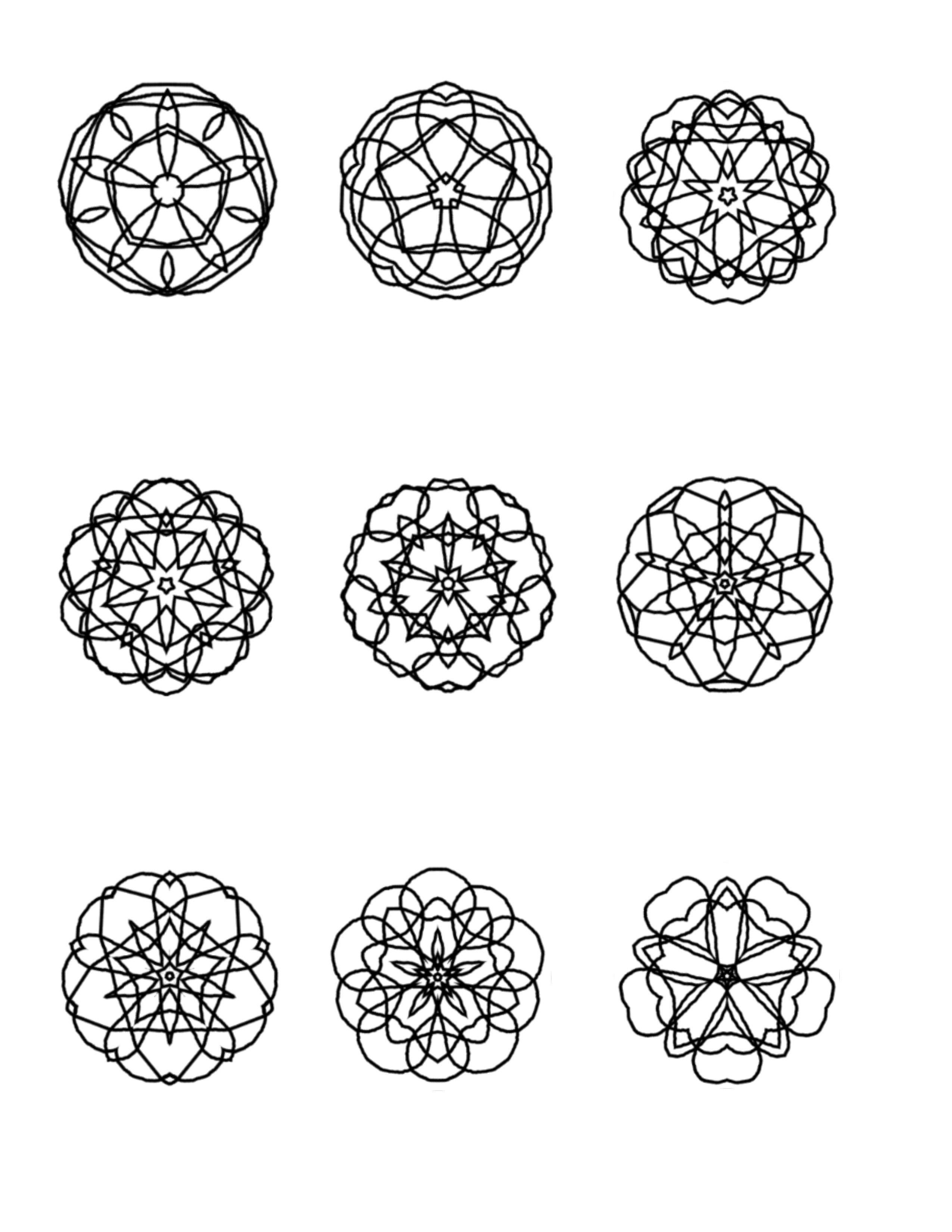 mini-mandalas-page-51 | Mandalas para colorear | Pinterest ...