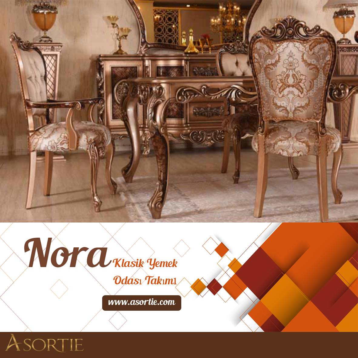 Nora Klasik Yemek Odas Takm Classic Dining Room Team Cezayir Bahreyn