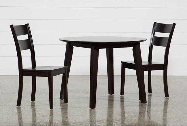Superior Moxy 3 Piece Espresso Round Dining Set, Brown | Round Dining Set, Round  Dining And Espresso