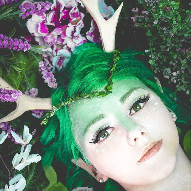 25 ethereal makeup transformations to diy your halloween fairy tale - Green Fairy Halloween Costume