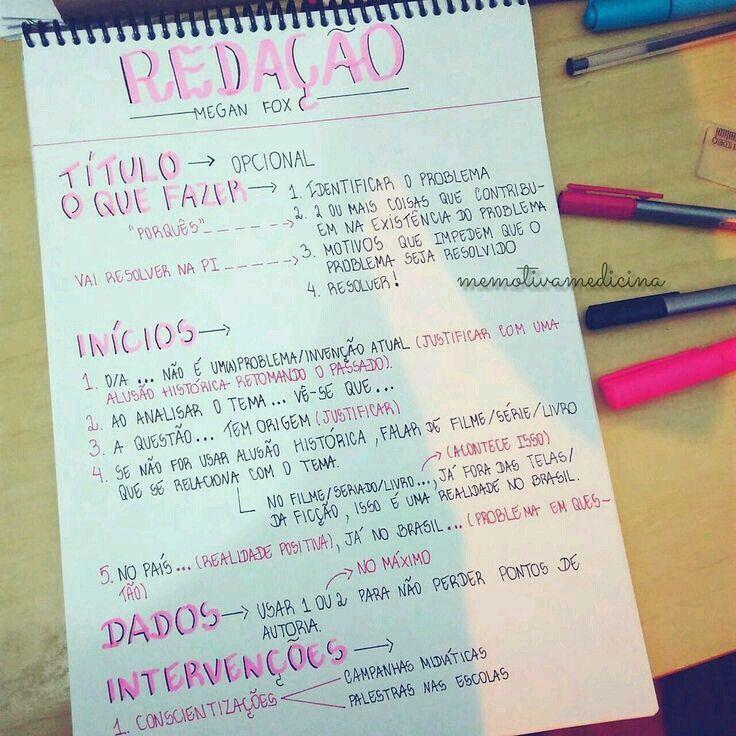 Capa Trabalho Redacao Enem Estudos Para O Enem Como Estudar