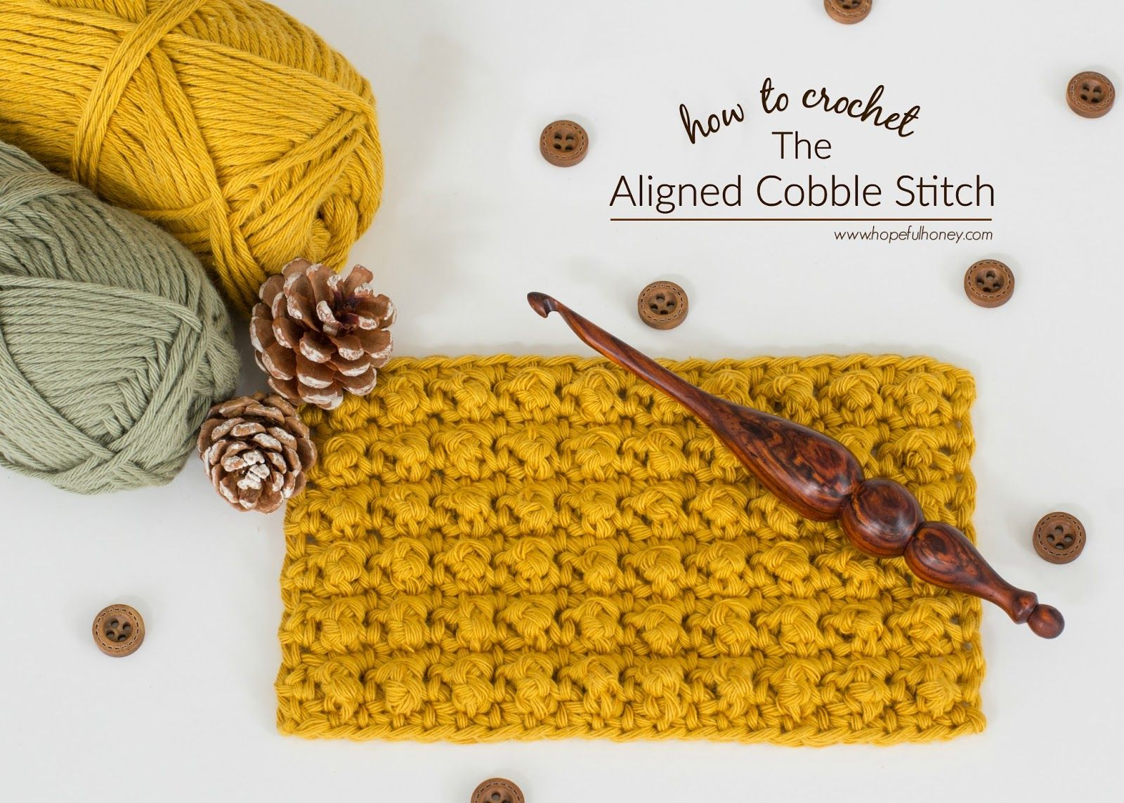 How To: Crochet The Aligned Cobble Stitch - Easy Tutorial ...