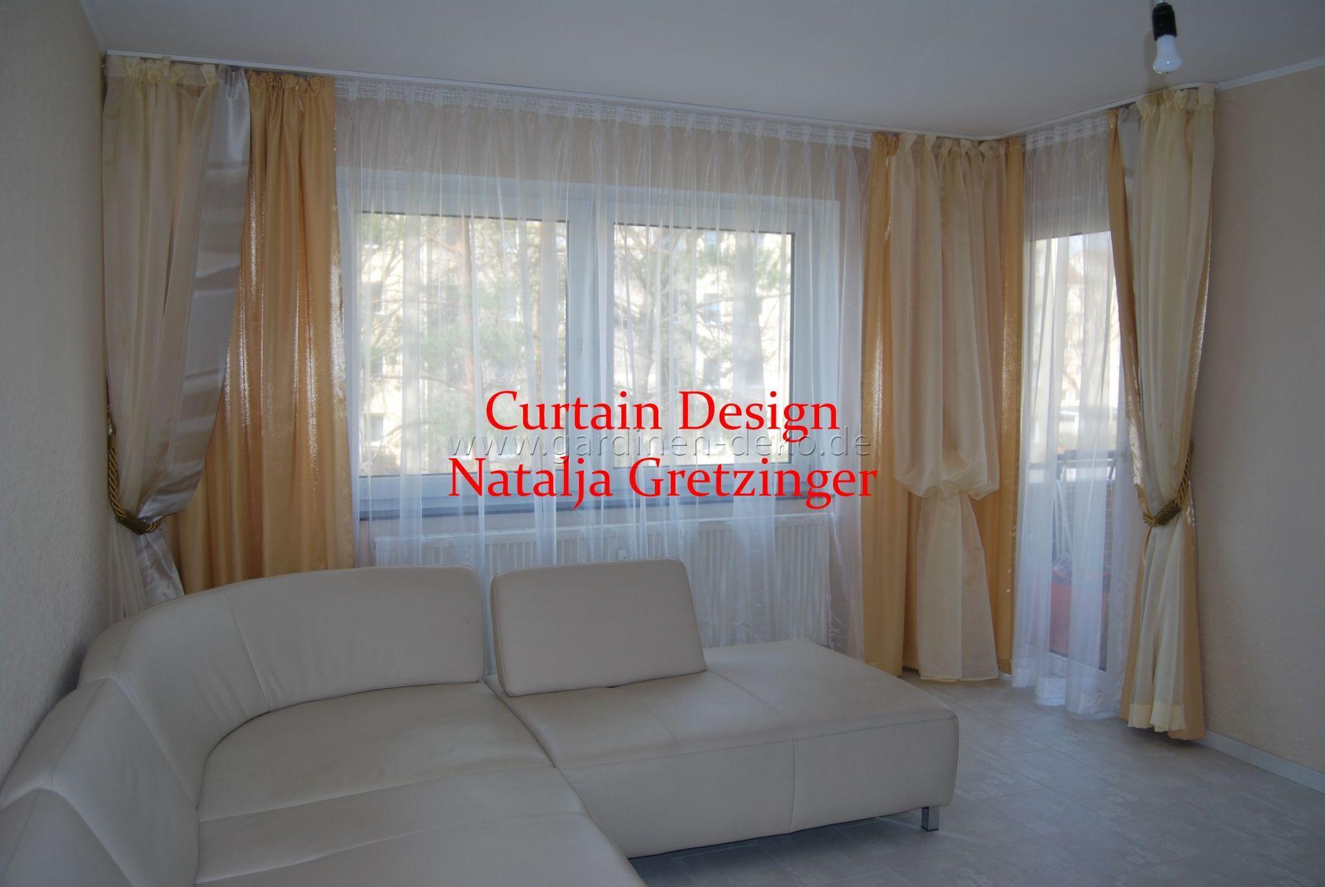 stilvoller klassischer vorhang in beige wei frs wohnzimmer httpwww