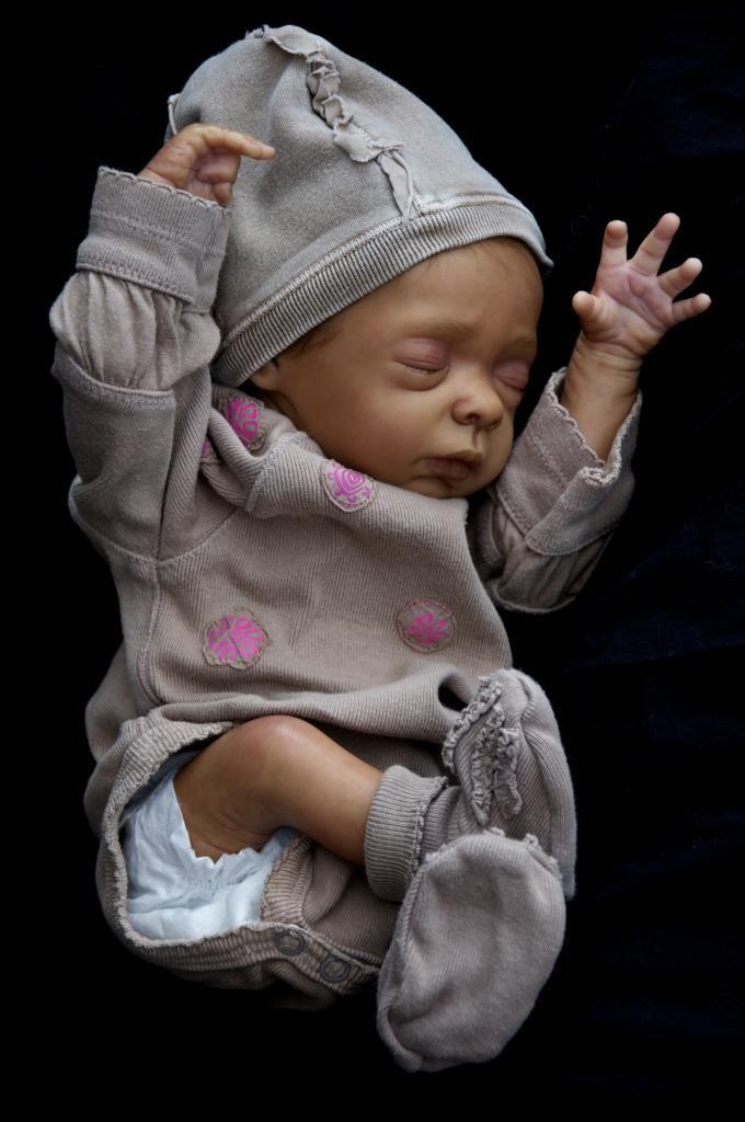 Reborn Baby Girl Mavie Evelina Wosnjuk Baby Ethnic Aa