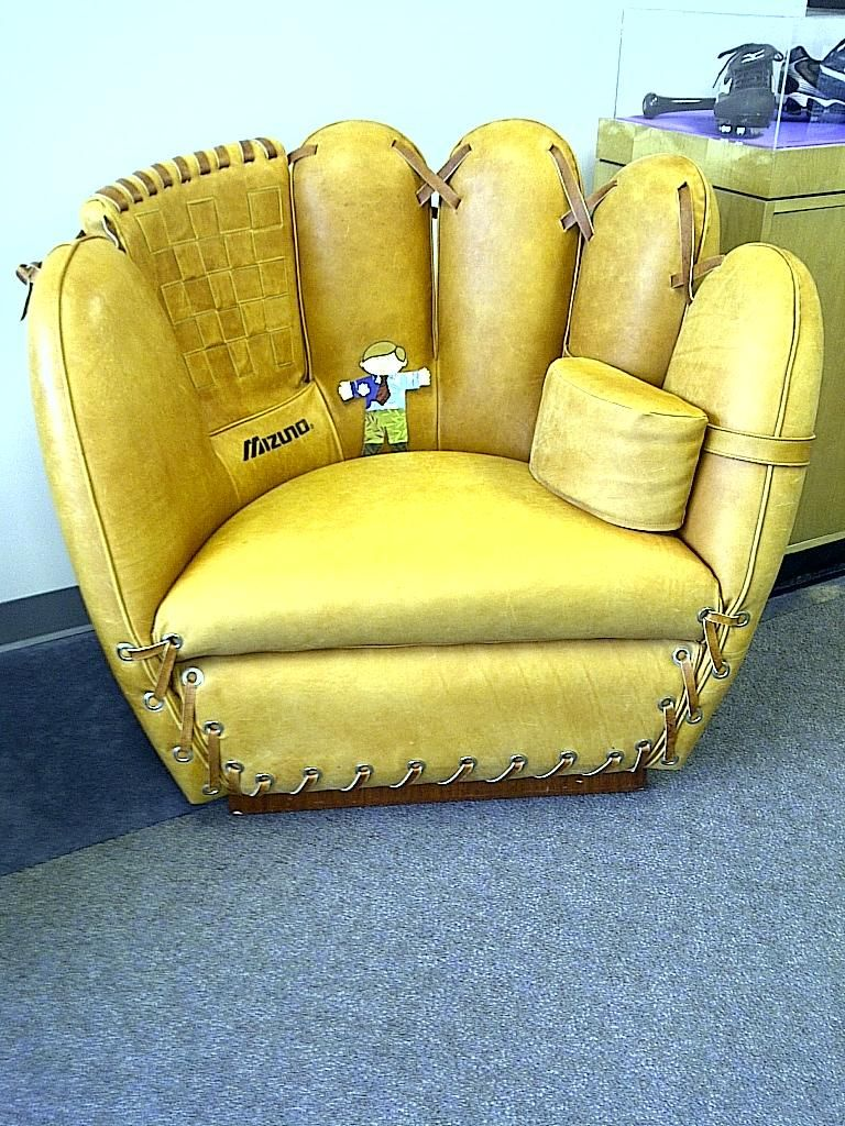 this is an awesome couch i would so get one for my daughter  - this is an awesome couch baseball glove