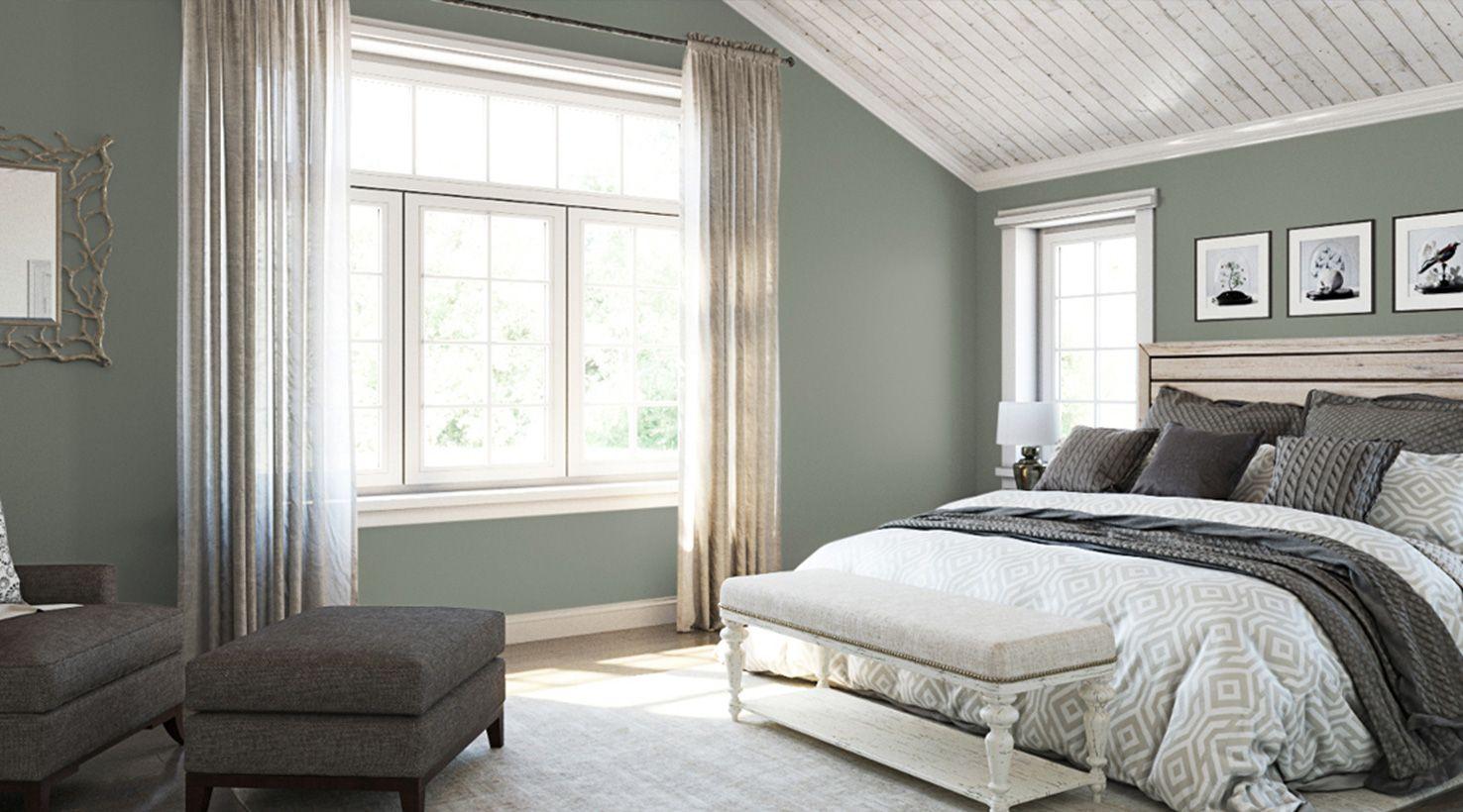 Bedroom Greens SW Acacia Haze Bedroom paint colors