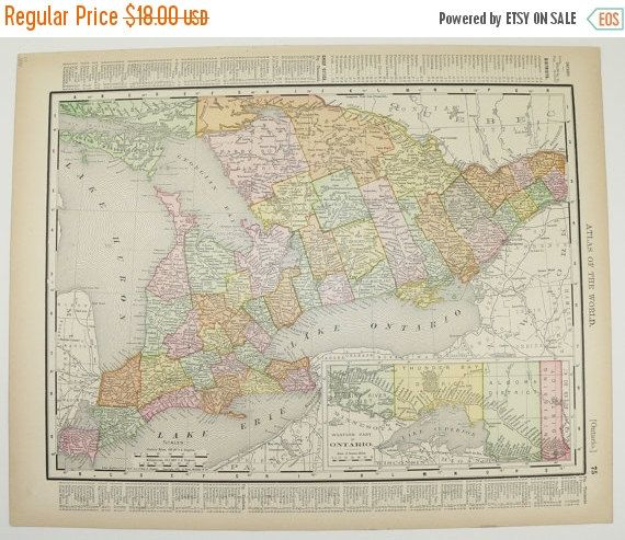 1800s Map Ontario Canada Quebec Map 1898 Eastern Canada Map