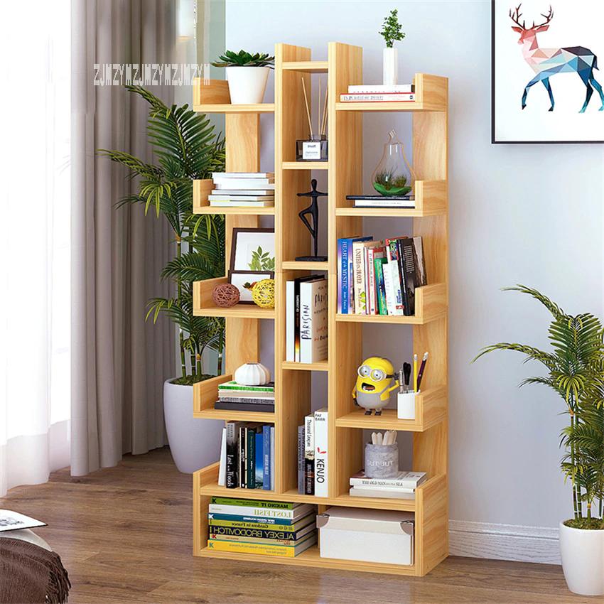 Sg271546 Land Creative Bookcase Simple Modern Students Bedroom Simple Bookshelf Economy Display Cabinet Living In 2020 Simple Bedroom Simple Bookshelf Student Bedroom
