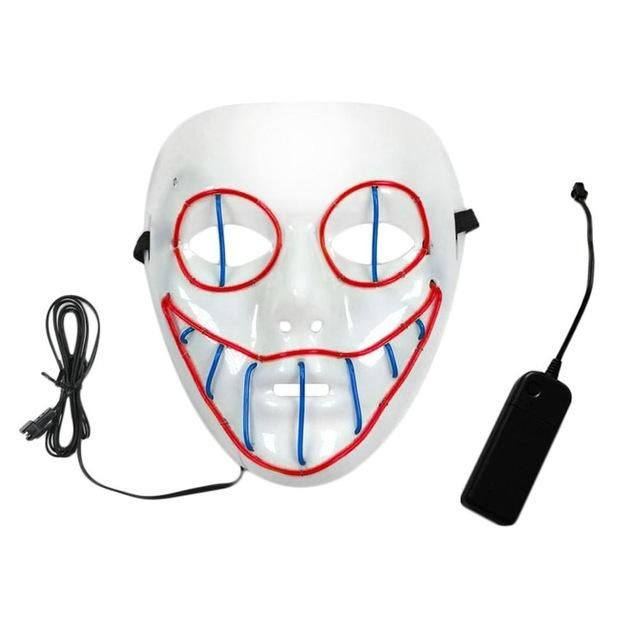 87bdf0061127 Luminous Mask LED Wire Clown Mask Halloween & Carnivals Party Costumes Christmas  New Year Hot Sale