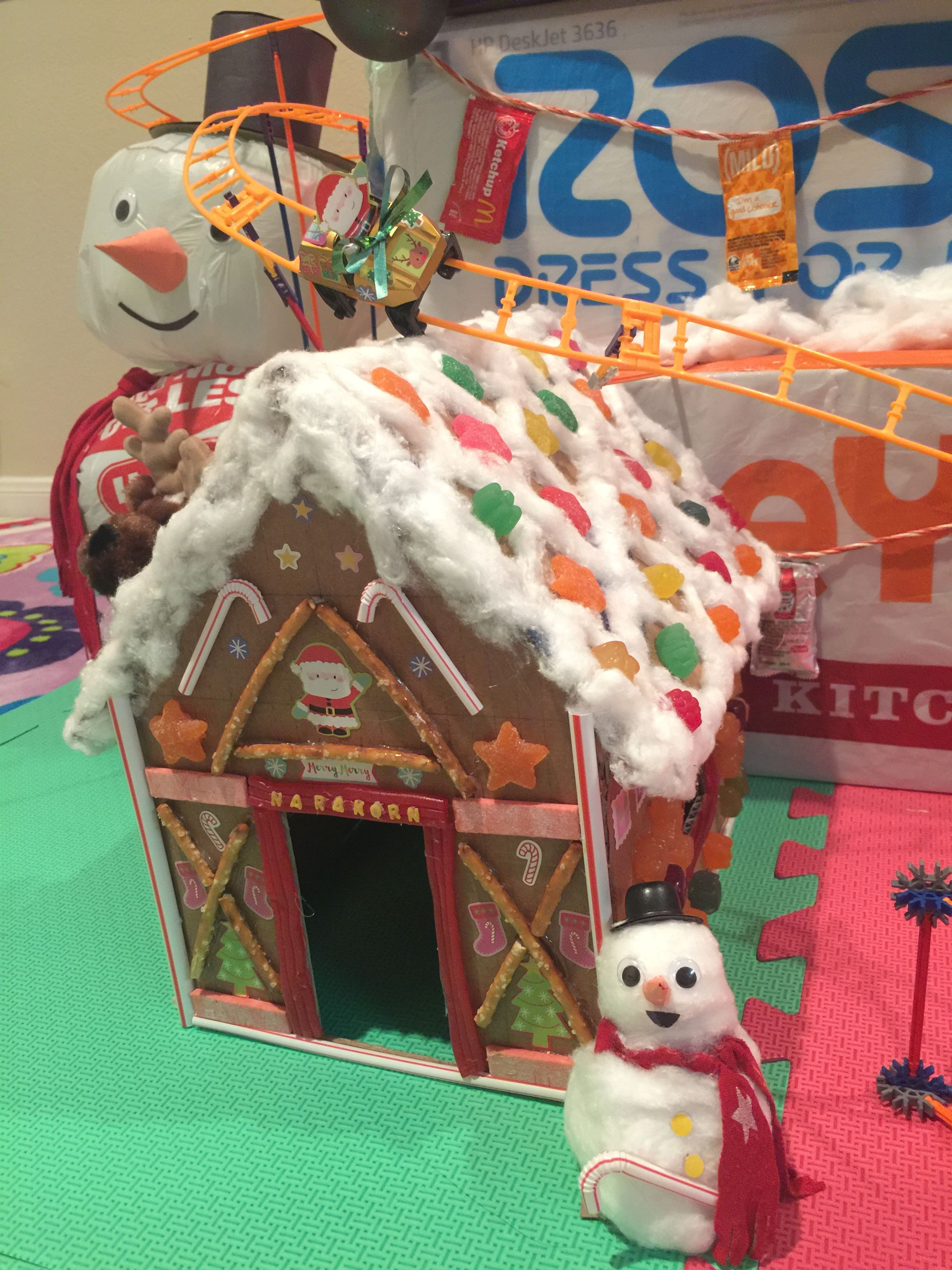 My DIY 0 Gingerbread house Around the house materials