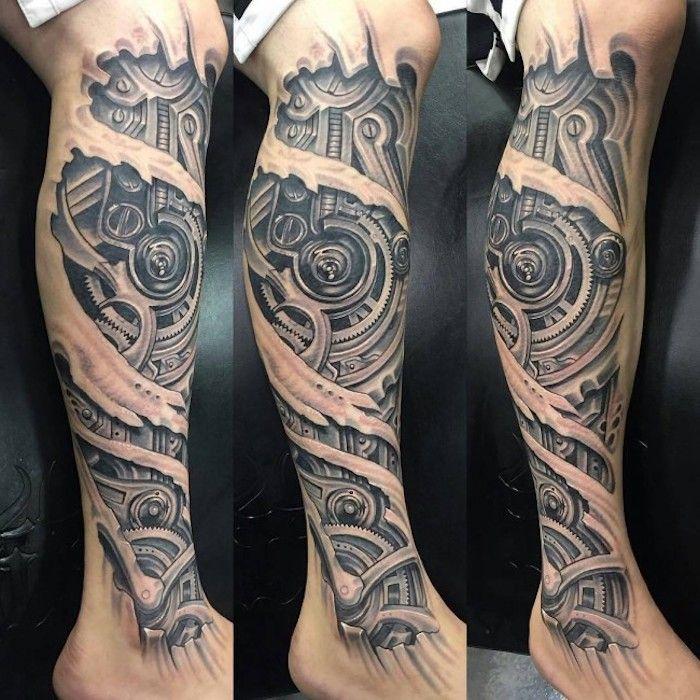 Bein tattoo mann Tattoo Ideen