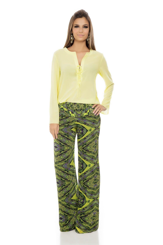 Calça Pantalona Estampa Étnica - roupas-calcas-calca-pantalona-estampa-etnica Iorane