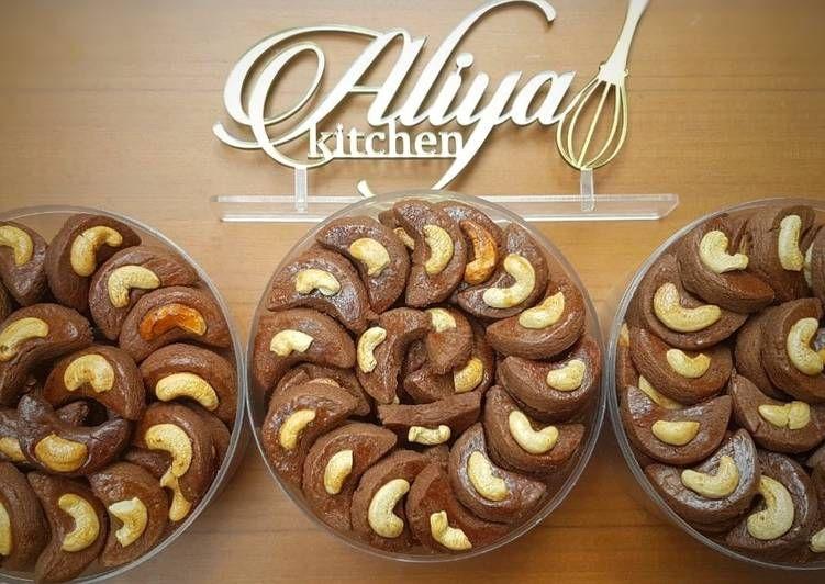 Resep Choco Cashew Cookies Kukis Kacang Mete Oleh Aliyapeliyang Aliyakitchen Resep Kacang Mete Kacang Makanan Manis