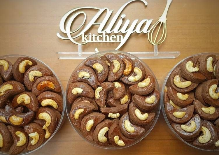 Choco Cashew Cookies Kukis Kacang Mete