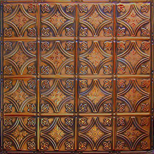 Pattern #3 Tin Tile Backsplash Kit (Copper Brushed Bronze) camping