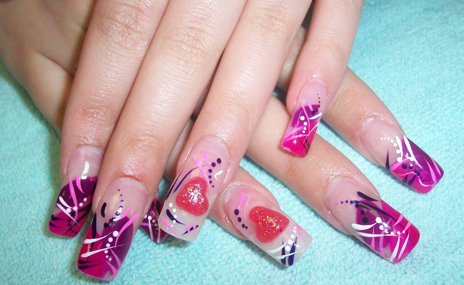 Valentineu0027s+Day+3D+Nail+Art | Valentineu0027s Day Nail Designs Idea 2014