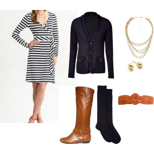 Nautical Dress-Up! Tomorrow's Outfit!, created by jennaploof on Polyvore