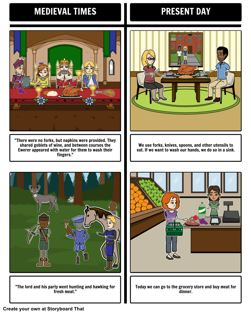 A Medieval Feast By Aliki T Chart Storyboard That S T Chart Graphic Organizer Is Perfect For A Compare Contrast S Teacher Guides Medieval Student Activities