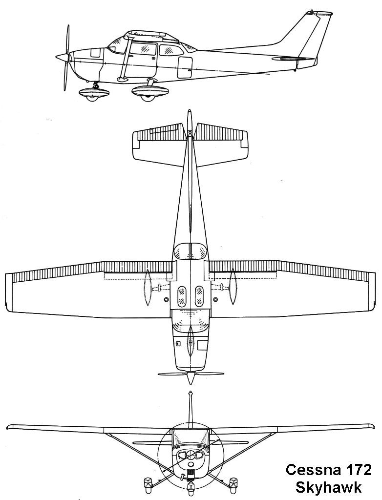 cessna 172 skyhawk airplane sketch airplane painting cessna 172 aviation training private [ 782 x 1024 Pixel ]