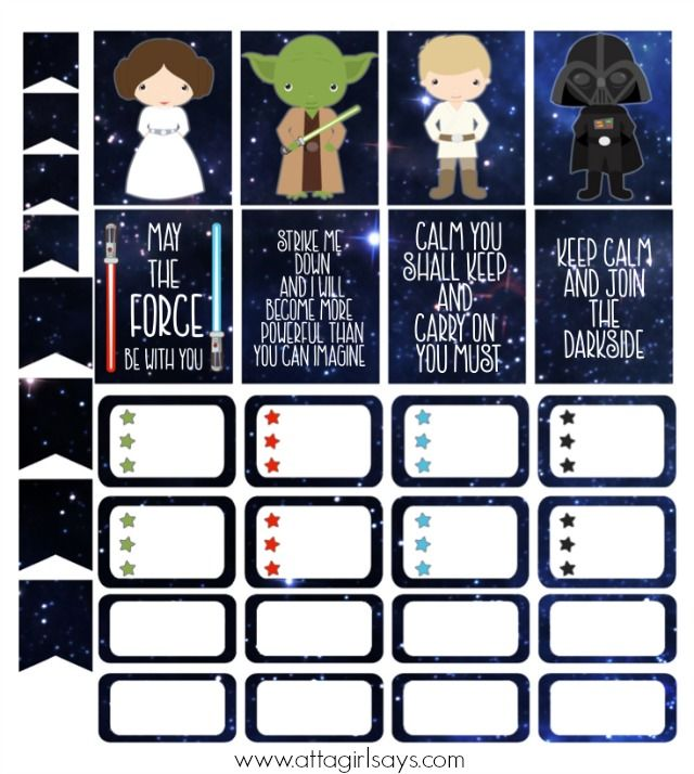Cut print star wars stickers for your planner star wars stickers planners and sticker paper