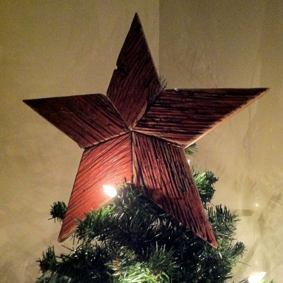 red barn wood christmas tree toppers made from boards taken from kentucky barns 33 - Rustic Christmas Tree Topper