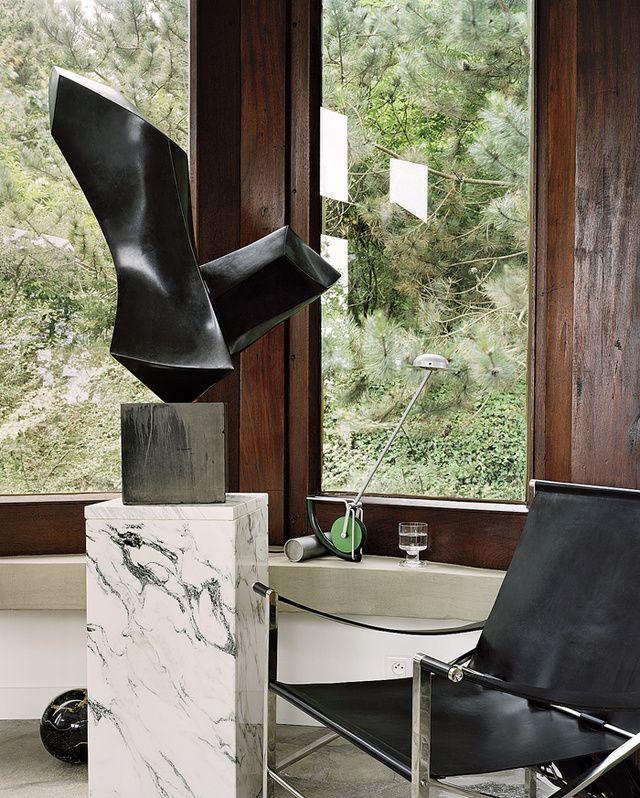 Une Maison Seventies En Bretagne Motifs Ecossaisplaide Maison Mobilier De Salon Et Decoration