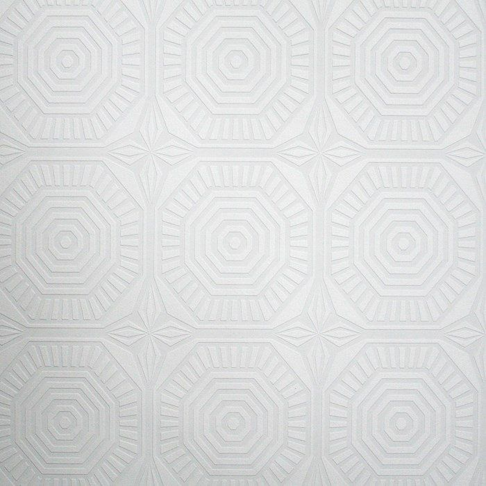 Geo Panel Paintable Wallpaper In White Design By Kelly Hoppen For Graham U0026  Brown
