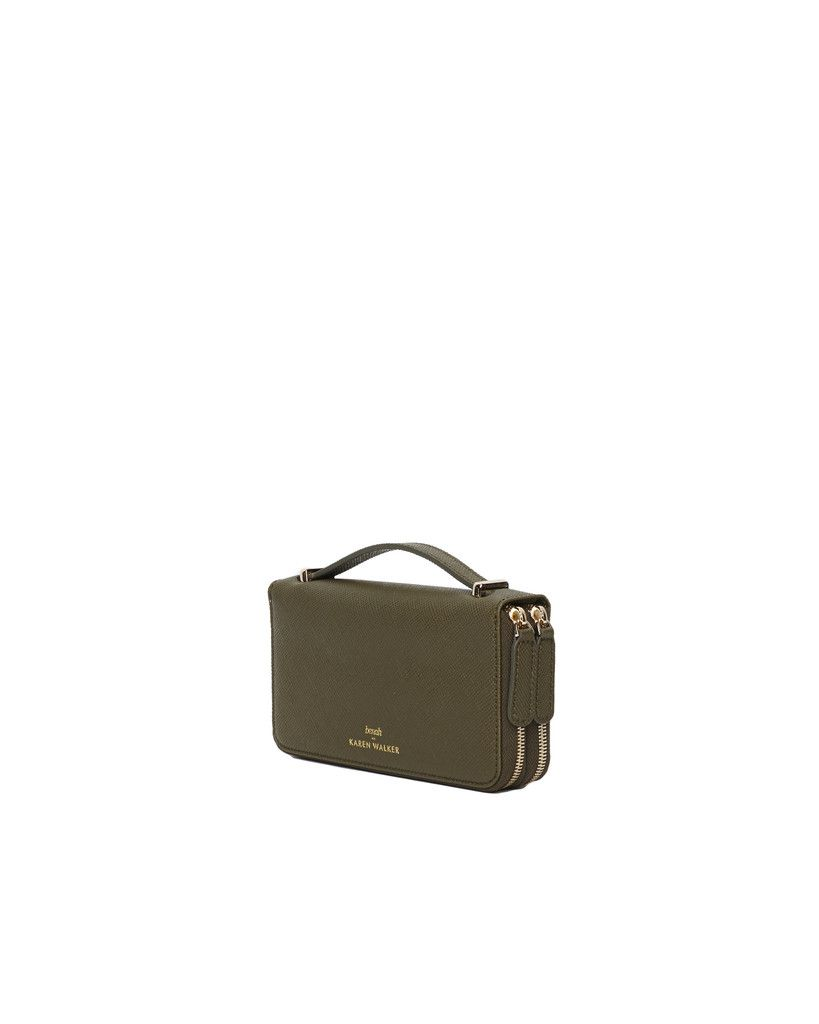 8cb49cdc82ca Dana Duo Zip Wallet Khaki - Benah for Karen Walker ...
