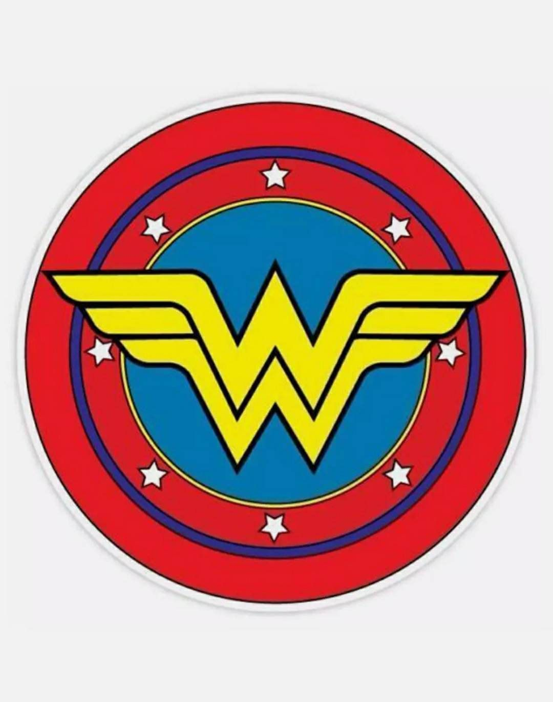 Wonder Woman Symbol Sticker Decal Etsy Female Symbol Wonder Woman Bumper Stickers [ 1369 x 1080 Pixel ]