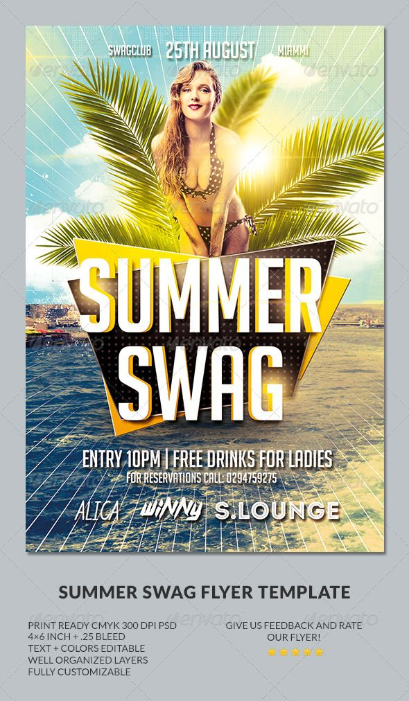 Summer Flyer Template Psd  Buy And Download HttpGraphicriver