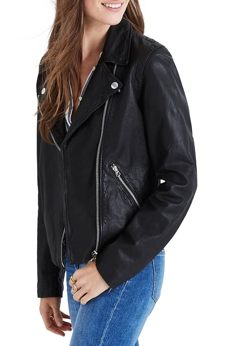 Madewell Washed Leather Moto Jacket Nordstrom Washed Leather Leather Moto Jacket Moto Jacket [ 1196 x 780 Pixel ]