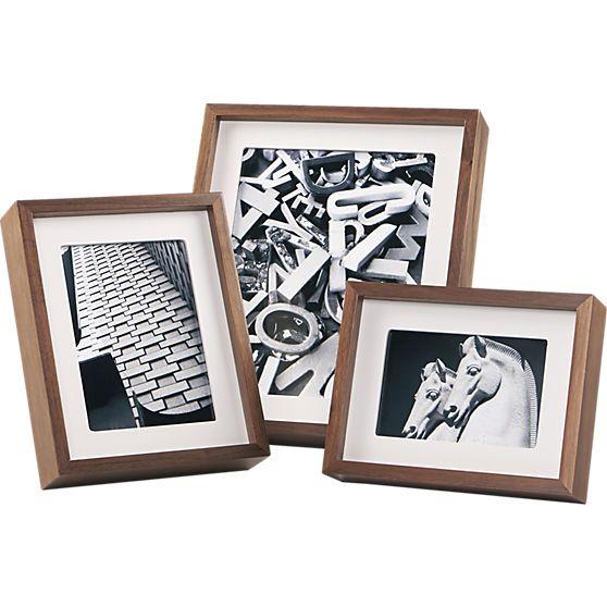 walnut picture frames  | CB2