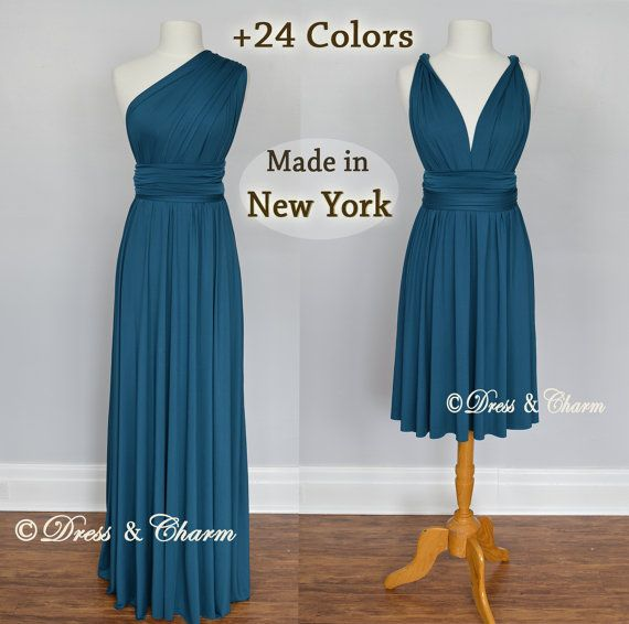 Teal convertible bridesmaid dresses wrap by justDressAndCharm 9c0a076236e5