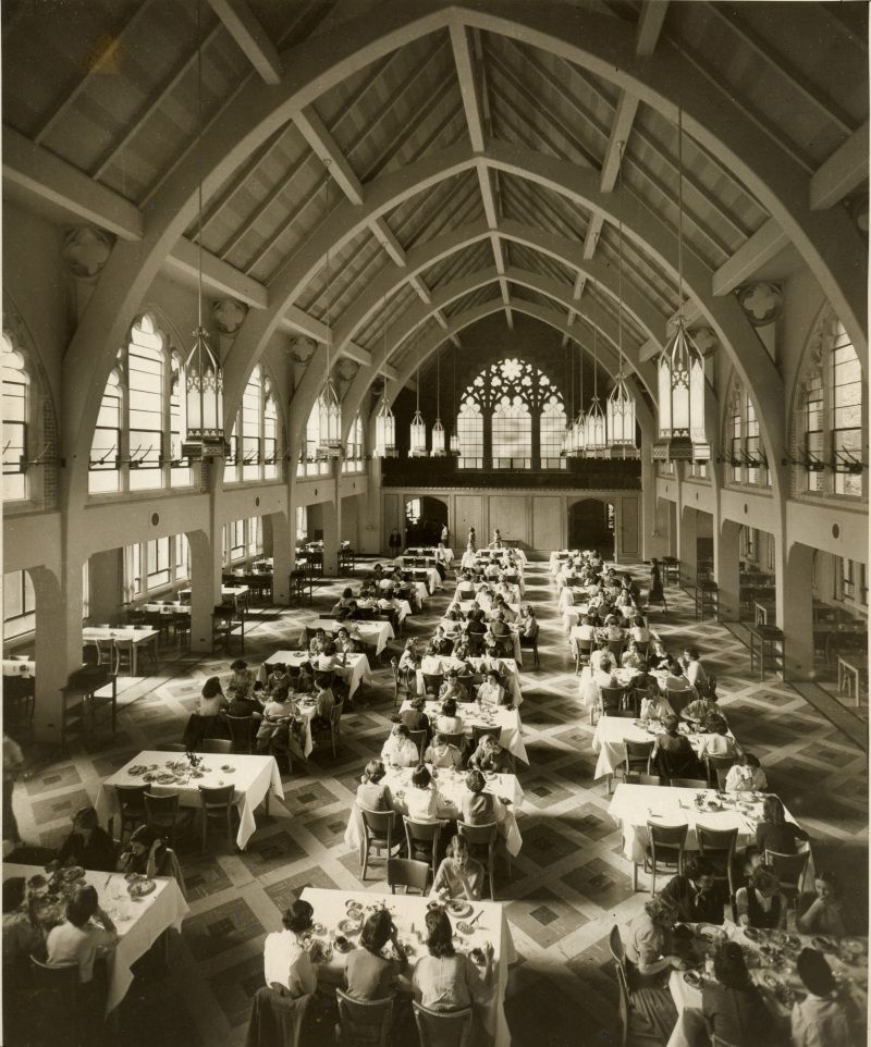 Dining Hall: Evans Dining Hall In 1950 Agnes Scott College