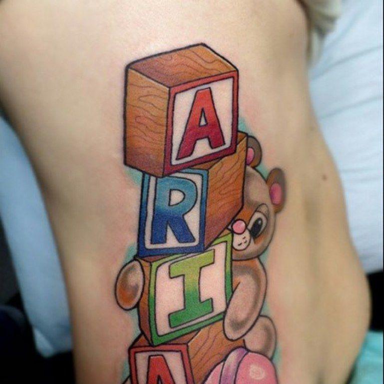 Tattoo Designs Bebe Bapu: 80 Tatouages De Mamans Qui Ont Leur Bébé Dans La Peau