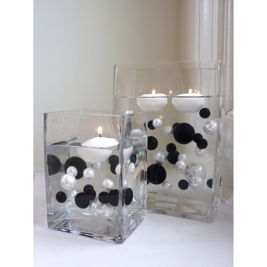 Black And White Centerpieces For Wedding Tables - Decorations Party