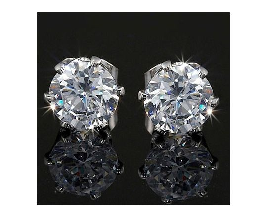 Just 4 For Swarovski Diamond Stud Earrings 6mm 2ct Total Weight Flawless